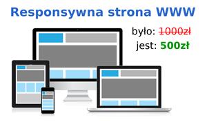 Strona WWW na start za pół ceny!