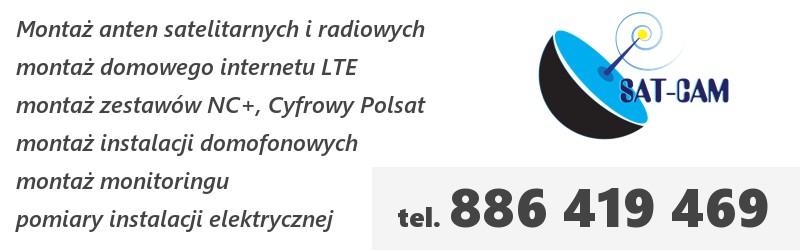 SAT-CAM Rzeszów - montaż anten, domofonów i kamer monitoringu